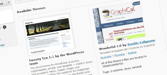 creare template wordpress